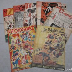 Coleccionismo de Revistas y Periódicos: COLECCION LA CODORNIZ ORIGINALES - 9 EJEMPLARES + 3 EXTRAS AÑOS 70. Lote 132206714