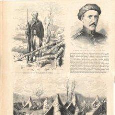 Coleccionismo de Revistas y Periódicos: LA ILUSTRACIÓN ESPAÑOLA Y AMERICANA GUERRA CARLISTA 1874 (8 MAY) VIZCAYA, . Lote 132246190