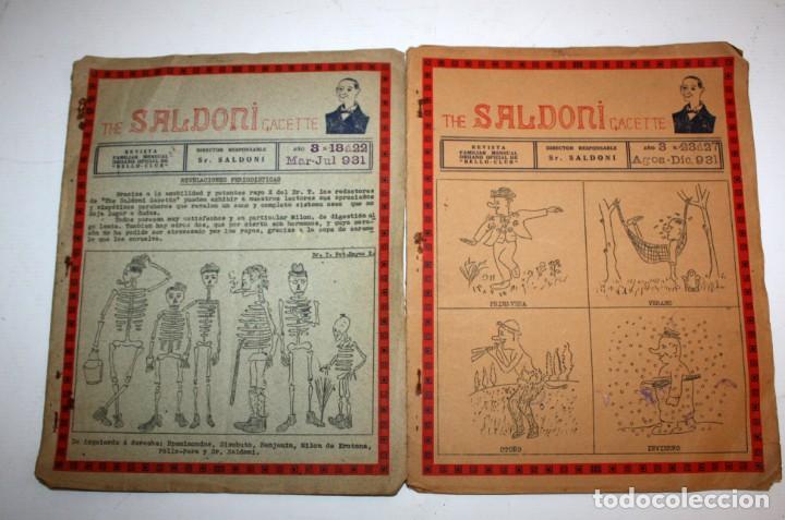 Coleccionismo de Revistas y Periódicos: THE SALDONI GACETTE. RARAS REVISTAS DE HUMOR. 27 NUMEROS (COMPLETA) AÑO 1929 AL 1931 - Foto 10 - 132383654