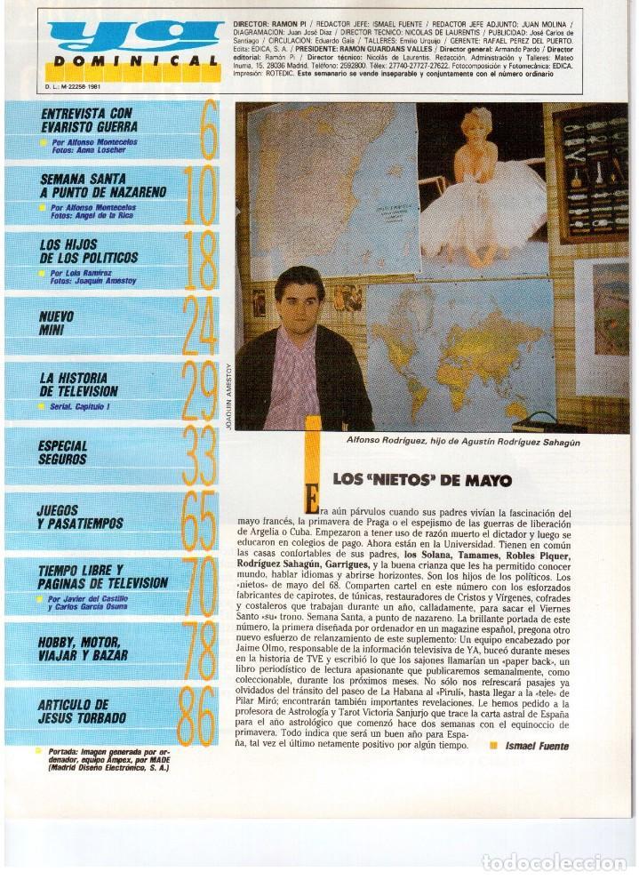 Coleccionismo de Revistas y Periódicos: 1987. EVARISTO GUERRA. SEMANA SANTA A PUNTO DE NAZARENO. GRABACIONES MARATONIANAS DE MIGUEL RIOS. - Foto 2 - 132400182