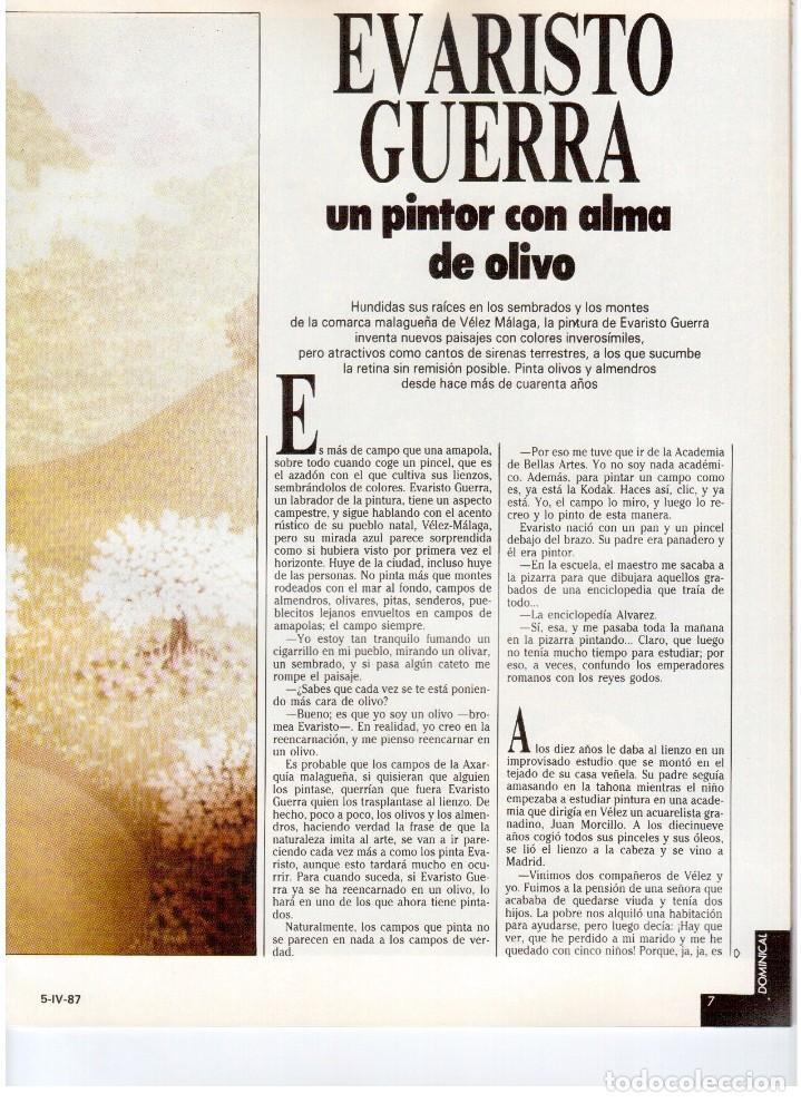 Coleccionismo de Revistas y Periódicos: 1987. EVARISTO GUERRA. SEMANA SANTA A PUNTO DE NAZARENO. GRABACIONES MARATONIANAS DE MIGUEL RIOS. - Foto 4 - 132400182