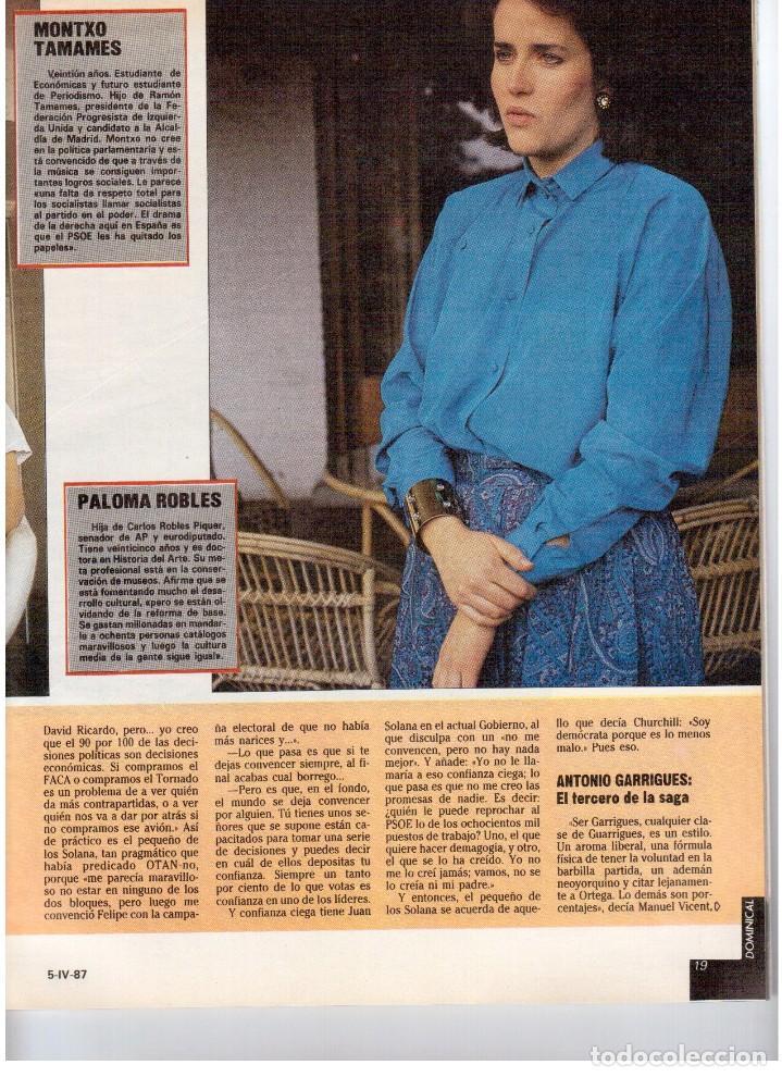 Coleccionismo de Revistas y Periódicos: 1987. EVARISTO GUERRA. SEMANA SANTA A PUNTO DE NAZARENO. GRABACIONES MARATONIANAS DE MIGUEL RIOS. - Foto 8 - 132400182