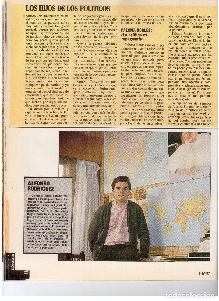 Coleccionismo de Revistas y Periódicos: 1987. EVARISTO GUERRA. SEMANA SANTA A PUNTO DE NAZARENO. GRABACIONES MARATONIANAS DE MIGUEL RIOS. - Foto 10 - 132400182