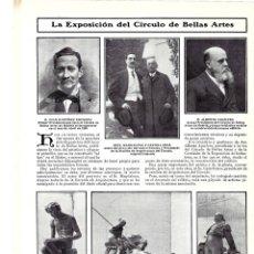 Coleccionismo de Revistas y Periódicos: 1907 HOJA REVISTA MADRID EXPOSICIÓN CÍRCULO BELLAS ARTES ESCULTURAS BLAY BENLLIURE OSLÉ MAGDALENA . Lote 132411906