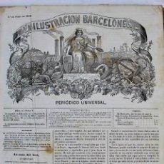Coleccionismo de Revistas y Periódicos: L-5063. TOMO LA ILUSTRACION BARCELONESA / EL CAÑON RAYADO. AÑOS 1858-1859.. Lote 132433818