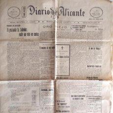 Coleccionismo de Revistas y Periódicos: DIARIO DE ALICANTE Nº 4138 - 17 AGOSTO 1925 - VAPOR JORGE JUAN Y EL BATALLÓN DE LA PRINCESA. Lote 132445334