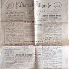 Coleccionismo de Revistas y Periódicos: DIARIO DE ALICANTE Nº 4149 - 31 AGOSTO 1925 - MELILLA; CLUB NATACIÓN; ATERRIZA EL CAPITÁN GIMÉNEZ. Lote 132446134