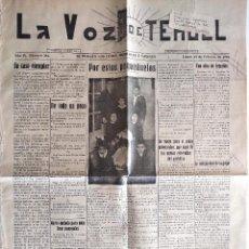 Coleccionismo de Revistas y Periódicos: LA VOZ DE TERUEL Nº 281 - 14 FEBRERO 1927 - . Lote 132446498