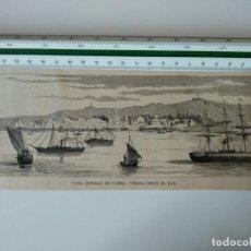 Coleccionismo de Revistas y Periódicos: GRABADO REVISTA ORIGINAL SIGLO XIX.VISTA GENERAL VARNA, TOMADA DESDE EL MAR. Lote 132464662
