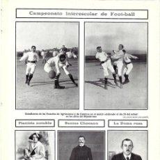 Coleccionismo de Revistas y Periódicos - 1907 HOJA REVISTA MADRID JOVEN PIANISTA CONSERVATORIO ISAURA MOURILLE - JOSÉ SANTOS CHOCANO - 132585010