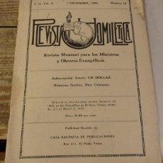 Coleccionismo de Revistas y Periódicos: REVISTA HOMILETICA, SERIE II, VOL.2, NUM.12, RELIGION EVANGELISTA, DICIEMBRE 1924. Lote 132587798