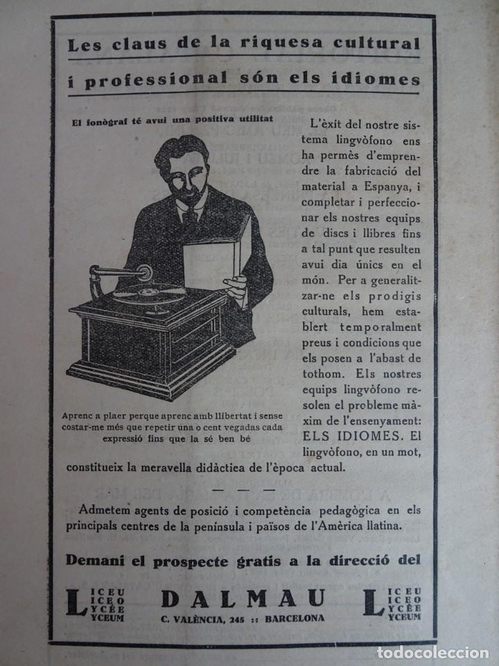 Coleccionismo de Revistas y Periódicos: ANTIGUA REVISTA - NOSTRA PARLA - Nº 18 JUNIO 1923 , VER FOTOS - Foto 6 - 132588926