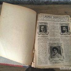 Coleccionismo de Revistas y Periódicos: LIBRO REVISTA MUNDO GRÁFICO 1913. PARA RESTAURAR. Lote 132606390
