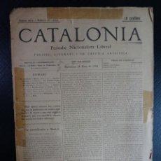 Coleccionismo de Revistas y Periódicos: ANTIGUO PERIODICO NACIONALISTA LIBERAL - CATALONIA - Nº 12 MARZO 1900 , VER FOTOS. Lote 132620142