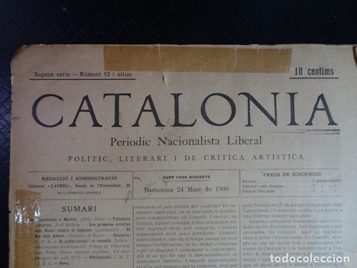 Coleccionismo de Revistas y Periódicos: ANTIGUO PERIODICO NACIONALISTA LIBERAL - CATALONIA - Nº 12 MARZO 1900 , VER FOTOS - Foto 2 - 132620142