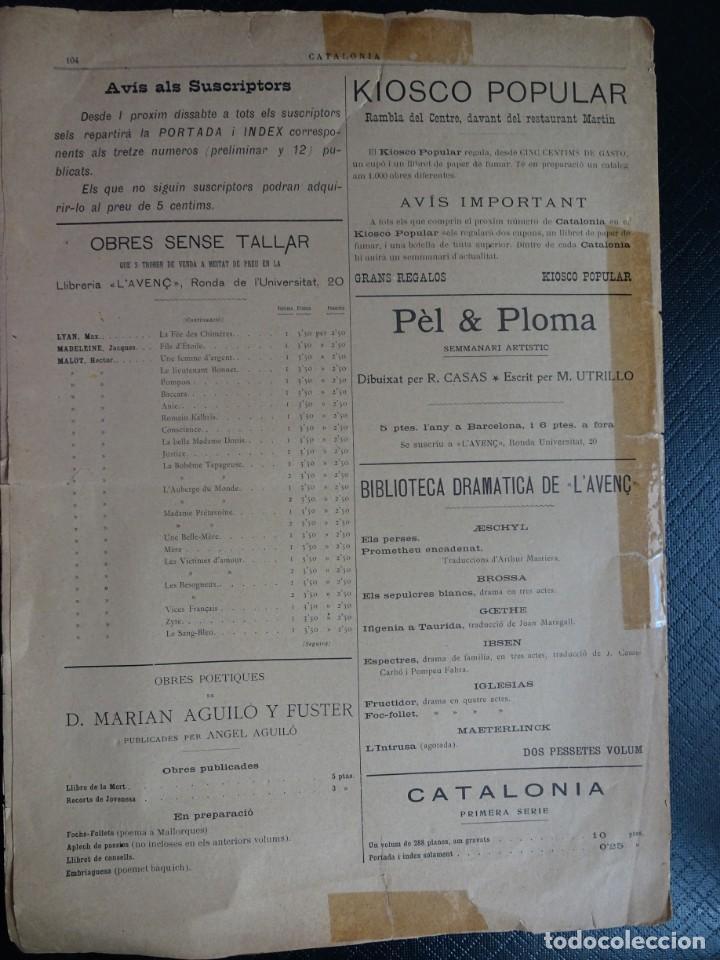 Coleccionismo de Revistas y Periódicos: ANTIGUO PERIODICO NACIONALISTA LIBERAL - CATALONIA - Nº 12 MARZO 1900 , VER FOTOS - Foto 5 - 132620142
