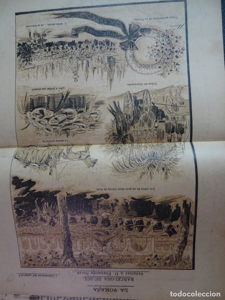 Coleccionismo de Revistas y Periódicos: ANTIGUO SEMANARIO CATALAN - LA TOMASA - HOMENAJE A FREDERIC SOLER, Nº 358 JULIO 1895 , VER FOTOS - Foto 4 - 132622790