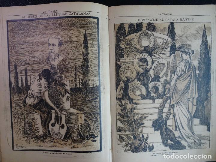 Coleccionismo de Revistas y Periódicos: ANTIGUO SEMANARIO CATALAN - LA TOMASA - HOMENAJE A FREDERIC SOLER, Nº 358 JULIO 1895 , VER FOTOS - Foto 6 - 132622790