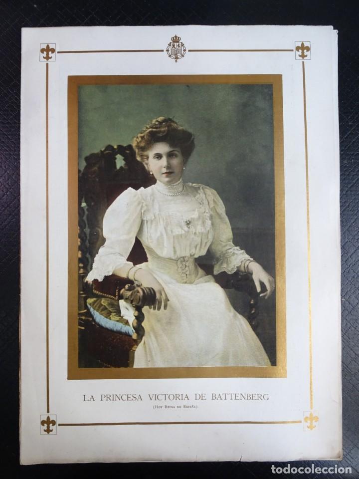 ANTIGUO SEMANARIO ILUSTRADO - ALBUM SALÓN- LA PRINCESA VICTORIA DE BATTEMBERG , VER FOTOS (Coleccionismo - Revistas y Periódicos Antiguos (hasta 1.939))