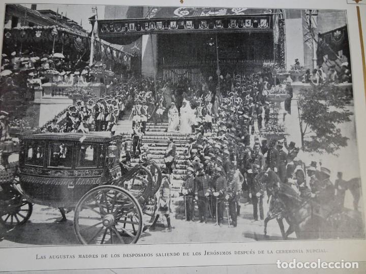 Coleccionismo de Revistas y Periódicos: ANTIGUO SEMANARIO ILUSTRADO - ALBUM SALÓN- LA PRINCESA VICTORIA DE BATTEMBERG , VER FOTOS - Foto 5 - 132627770