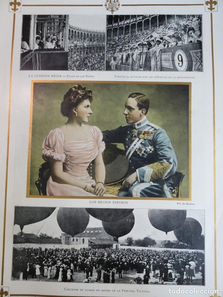 Coleccionismo de Revistas y Periódicos: ANTIGUO SEMANARIO ILUSTRADO - ALBUM SALÓN- LA PRINCESA VICTORIA DE BATTEMBERG , VER FOTOS - Foto 8 - 132627770