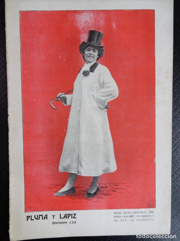 ANTIGUO PERIÓDICO ILUSTRADO - PLUMA Y LAPIZ - Nº 132 , VER FOTOS (Coleccionismo - Revistas y Periódicos Antiguos (hasta 1.939))
