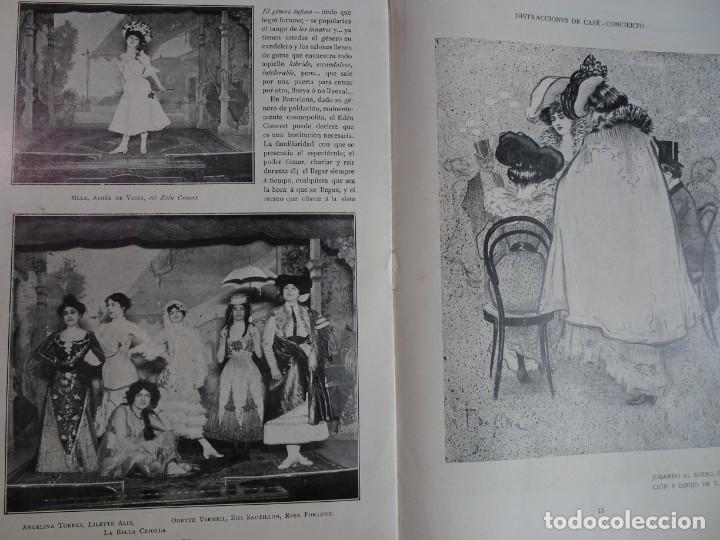 Coleccionismo de Revistas y Periódicos: ANTIGUO PERIÓDICO ILUSTRADO - PLUMA Y LAPIZ - Nº 132 , VER FOTOS - Foto 8 - 132628242