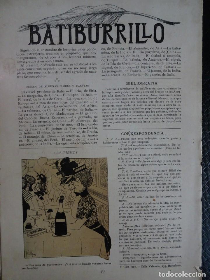 Coleccionismo de Revistas y Periódicos: ANTIGUO PERIÓDICO ILUSTRADO - PLUMA Y LAPIZ - Nº 132 , VER FOTOS - Foto 9 - 132628242