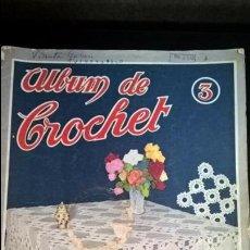 Coleccionismo de Revistas y Periódicos: ALBUM DE CROCHET NUM 3. CASA MIDOES LISBOA.. Lote 132638302