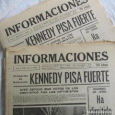 Coleccionismo de Revistas y Periódicos: 2 EJEMPLARES IGUALES DEL DIARIO INDEPENDIENTE INFORMACIONES 15 DE MAYO 1968. Lote 132671774