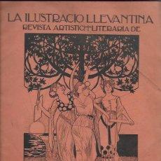 Coleccionismo de Revistas y Periódicos: LA ILUSTRACIÓ LLEVANTINA. CATALUNYA, VALÈNCIA, MALLORCA Y ROSSELLÓ 1900. ANY 1 NÚM. 1. 31X22CM. 24 P. Lote 132704434