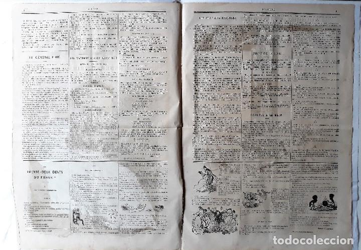 Coleccionismo de Revistas y Periódicos: EL GENERAL PRIM REUS CARICATURA DE ANDRÉ GILL SEMANARIO HUMORÍSTICO LA LUNE 1867 FRANCIA ENMARCADO - Foto 3 - 132705722
