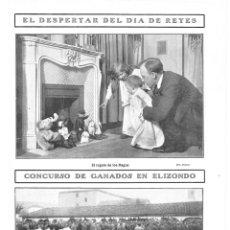 Coleccionismo de Revistas y Periódicos: 1909 HOJA REVISTA NAVARRA VALLE DEL BAZTAN ELIZONDO CONCURSO DE GANADOS - DÍA DE REYES REGALOS. Lote 132757358