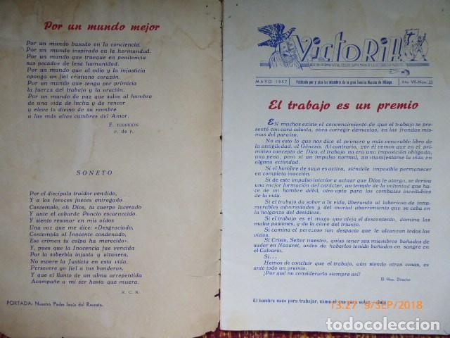 Coleccionismo de Revistas y Periódicos: revista malagueña, victoria, 1957, H.H. Maristas, - Foto 7 - 132820606