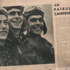 Coleccionismo de Revistas y Periódicos: LA VANGUARDIA NOTAS GRÁFICAS GUERRA CIVIL 18 SEPTIEMBRE 1938 LA PATRULLA CAMPESINA. Lote 132832455