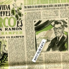 Coleccionismo de Revistas y Periódicos: REVISTA AÑO 1945 CIRCO RAMPER GREGORIO TOLEDO BENJAMIN PALENCIA AURELIO BLANCO PINAZO DIAZ-PINTADO . Lote 137844522