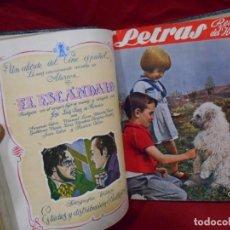 Coleccionismo de Revistas y Periódicos: LOTE DE REVISTAS DEL HOGAR - LETRAS - ENCUADERNADAS - AÑOS 40 -. Lote 133040518