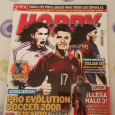 Coleccionismo de Revistas y Periódicos: REVISTA HOBBY CONSOLAS PRO EVOLUTION SOCCER 2008 US FIFA 08. Lote 133043138