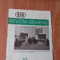 Coleccionismo de Revistas y Periódicos: REVISTA. SIEMENS. Nº 10. AÑO IX. 1930.. Lote 133047766