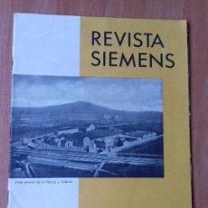 Coleccionismo de Revistas y Periódicos: REVISTA. SIEMENS. Nº8. AÑO IX 1930.. Lote 133055854