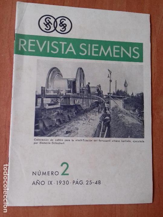 REVISTA. SIEMENS. Nº2. AÑO IX 1930. (Coleccionismo - Revistas y Periódicos Antiguos (hasta 1.939))
