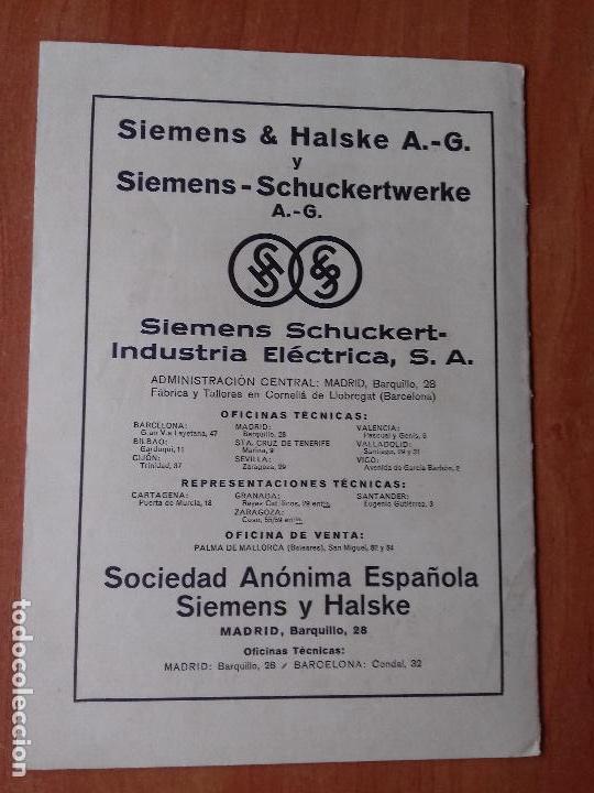 Coleccionismo de Revistas y Periódicos: REVISTA. SIEMENS. Nº2. AÑO IX 1930. - Foto 2 - 133056678
