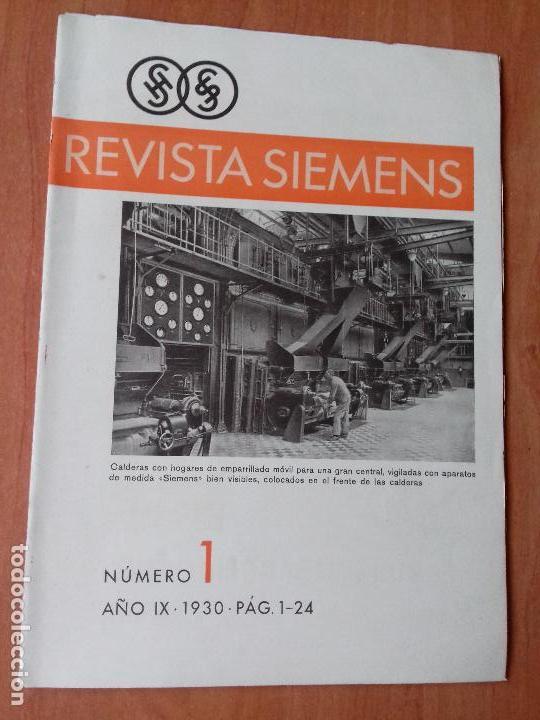REVISTA. SIEMENS. Nº1. AÑO IX 1930. (Coleccionismo - Revistas y Periódicos Antiguos (hasta 1.939))