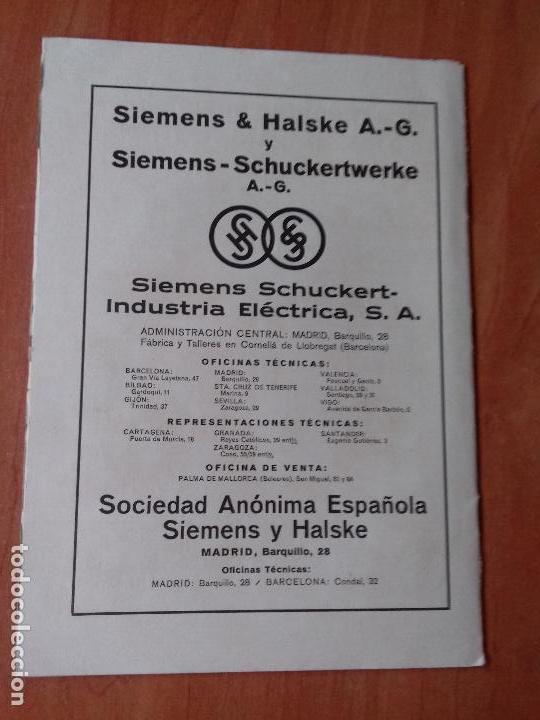 Coleccionismo de Revistas y Periódicos: REVISTA. SIEMENS. Nº1. AÑO IX 1930. - Foto 2 - 133056730