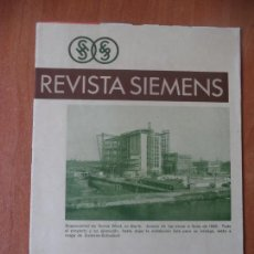 Coleccionismo de Revistas y Periódicos: REVISTA. SIEMENS. Nº 4. AÑO IX. 1930.. Lote 133064514