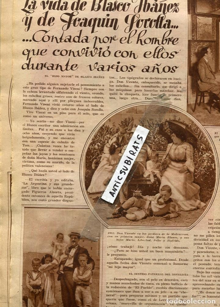 Coleccionismo de Revistas y Periódicos: REVISTA AÑO 1931 PERROS DE BARCELONA BLASCO IBAÑEZ JOAQUIN SOROLLA PELEAS DE CARNEROS EN PAIS VASCO - Foto 2 - 133144378