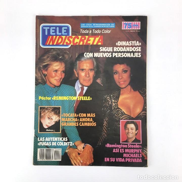 TELE INDISCRETA AÑO 2 NUM 88 DINASTIA REMINGTON STEELE TOCATA MURPHY MICHAELS REVISTA TELEINDISCRETA (Coleccionismo - Revistas y Periódicos Modernos (a partir de 1.940) - Otros)