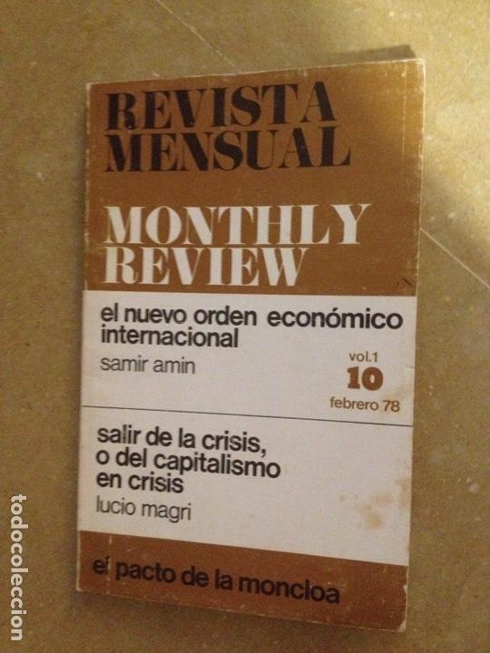 MONTHLY REVIEW VOL. 1 (N 10) 1978 (SAMIR AMIN, LUCIO MAGRI, EL PACTO DE LA MONCLOA) (Coleccionismo - Revistas y Periódicos Modernos (a partir de 1.940) - Otros)