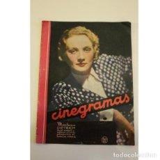 Coleccionismo de Revistas y Periódicos: REVISTA CINEGRAMAS. Lote 133239234
