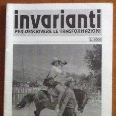 Coleccionismo de Revistas y Periódicos: INVARIANTI, Nº 27, 1995. PERIDICO POLÍTICO CULTURALE. PER DESCRIVERE LE TRASFORMAZIONI. ITALIA. Lote 133323178